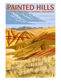 Painted Hills - John Day Fossil Beds, Oregon Posters by  Lantern Press