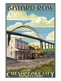 Bayard Row - Chesapeake City, Maryland Posters by  Lantern Press