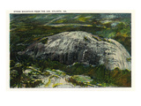 Stone Mountain, Georgia - Aerial View of the Mountain Print by  Lantern Press