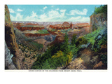 Grand Canyon Nat'l Park, Arizona - Bright Angel Trail View of Grand Canyon Kunstdruck von  Lantern Press