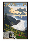 Cape Perpetua - Oregon Coast Prints by  Lantern Press