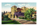 Oakland, California - Exterior View of Santa Fe Train Depot Prints by  Lantern Press