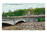 Rumford Falls, Maine - Maine Central Railroad Station Art by  Lantern Press