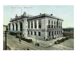 Albany, New York - Railroad Depot Exterior Lmina por Lantern Press