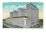 Detroit, Michigan - General Motors Bldg, Lab, and Convention Hall Exterior Prints by  Lantern Press