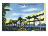 Miami Beach, Florida - View Down Lincoln Road Affiches par Lantern Press