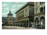 Venice, California - St. Mark's Hotel Entrance View Prints by  Lantern Press