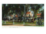 Daytona Beach, Florida - View of Horse Carriages Posters by Lantern Press