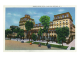 Saratoga Springs, New York - Grand Union Hotel Exterior View Poster by  Lantern Press
