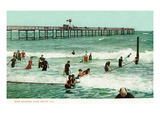 Palm Beach, Florida - Swimming Scene Prints by  Lantern Press