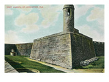 St. Augustine, Florida - Fort Marion Scene Prints by  Lantern Press