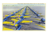 View of the Vultee Valiants, BT-13A and SN-V-1 Planes Prints by  Lantern Press