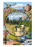 Boulder, Colorado - Montage Views Premium Giclee Print by  Lantern Press