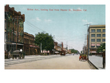 Stockton, California - East View Down Weber Ave from Hunter Street Posters by  Lantern Press