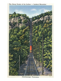 Chattanooga, Tennessee - Lookout Mountain Incline Rail Print by  Lantern Press