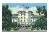 Colorado Springs, Colorado - Front Vista of the Broadmoor Hotel Print by  Lantern Press