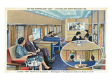 Interior View of Chicago and Northwestern Line Streamliner 400 Train Art by  Lantern Press