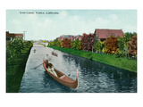 Venice, California - Gondalas on the Lion Canal View Prints by  Lantern Press