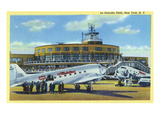 New York City, New York - La Guardia Field with Parked Planes Art by  Lantern Press