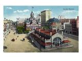 Winnipeg, Manitoba - Market Square Scene Art by  Lantern Press