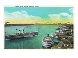 Detroit, Michigan - White Star Docks Scene Posters by  Lantern Press