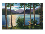 Grand Lake, Colorado - Sunrise Scene on the Lake Kunst von  Lantern Press