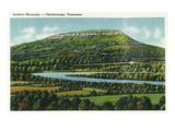 Lookout Mountain, Tennessee - Panoramic View of the Mountain from Chattanooga Posters by  Lantern Press