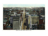 Philadelphia, Pennsylvania - Northern Aerial from City Hall Tower Art by  Lantern Press