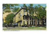 Saratoga Springs, New York - Worden Hotel View Lminas por Lantern Press