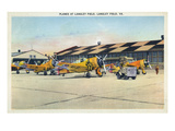 Langley Field, Virginia - View of Planes Getting Serviced Art by  Lantern Press