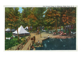 Allegany State Park, New York - View of the Girl Scouts' Camp Poster von  Lantern Press