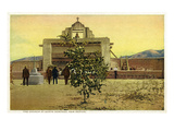 Santo Domingo, New Mexico - View of the Church Art by  Lantern Press