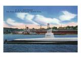 Groton, Connecticut - Uss Nautilus View, First Atomic Submarine Prints by  Lantern Press