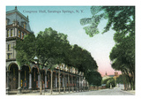 Saratoga Springs, New York - Congress Hall Exterior View Posters by  Lantern Press