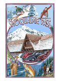 Snoqualmie Pass, Washington Views Prints by  Lantern Press
