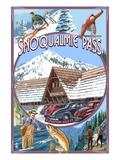 Snoqualmie Pass, Washington Views Lámina giclée premium por  Lantern Press