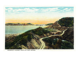 Oregon - Coastal Highway Scene South of Port Orford Print by  Lantern Press