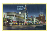 Hollywood, California - ABC Building on Vine Street Print by  Lantern Press