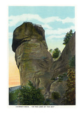 Blue Ridge Mountains, North Carolina - Chimney Rock Scene Giclée-Premiumdruck von  Lantern Press