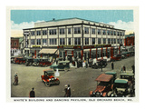 Old Orchard Beach, Maine - White's Building and Dancing Pavilion Posters by Lantern Press