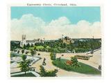 Cleveland, Ohio - University Circle Scene Kunst von  Lantern Press
