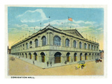 Kansas City, Missouri - Exterior View of the Convention Hall Posters by  Lantern Press
