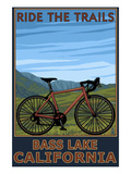 Bass Lake, California - Bicycle Scene Art by  Lantern Press