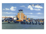 Indianapolis, Indiana - Weir Cook Municipal Airport Scene Poster by Lantern Press
