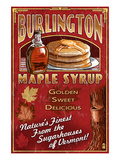 Burlington, Vermont - Maple Syrup Art by  Lantern Press