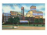 St. Louis, Missouri - Exterior View of Checkerboard Square, Ralston Purina Company Posters by  Lantern Press