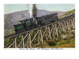 White Mountains, NH - Mt. Washington Cog Train Descending Posters by  Lantern Press