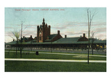 Cedar Rapids, Iowa - Union Train Station Exterior View Prints by  Lantern Press