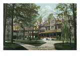 Saratoga Springs, New York - St. Christiana School and Grounds Print by  Lantern Press