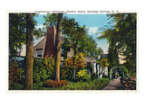 Saratoga Springs, New York - Chauncey Olcott Residence Inniscarra Poster by  Lantern Press